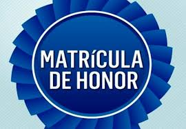 Matrículas de Honor curso 19/20