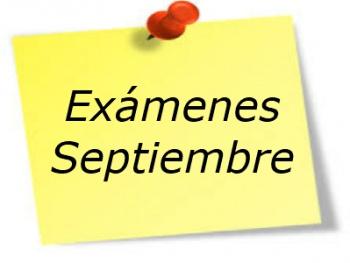 Calendario Pruebas Septiembre 2021